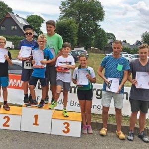 Frankenwaldlauf Oßla 2018 Platzierungen Gimpel- und Schnupperlauf